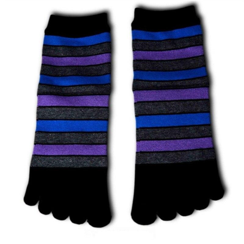 4Pair New Style Women Cotton Toe Socks Female Casual Five Finger Socks Ladies Colorful Kawaii Striped Socks For Women