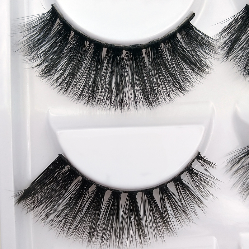 Mix 5 Pairs 3d mink lashes natural false eyelashes thick long black mink eyelashes soft makeup eyelash extension faux lashes 807 1