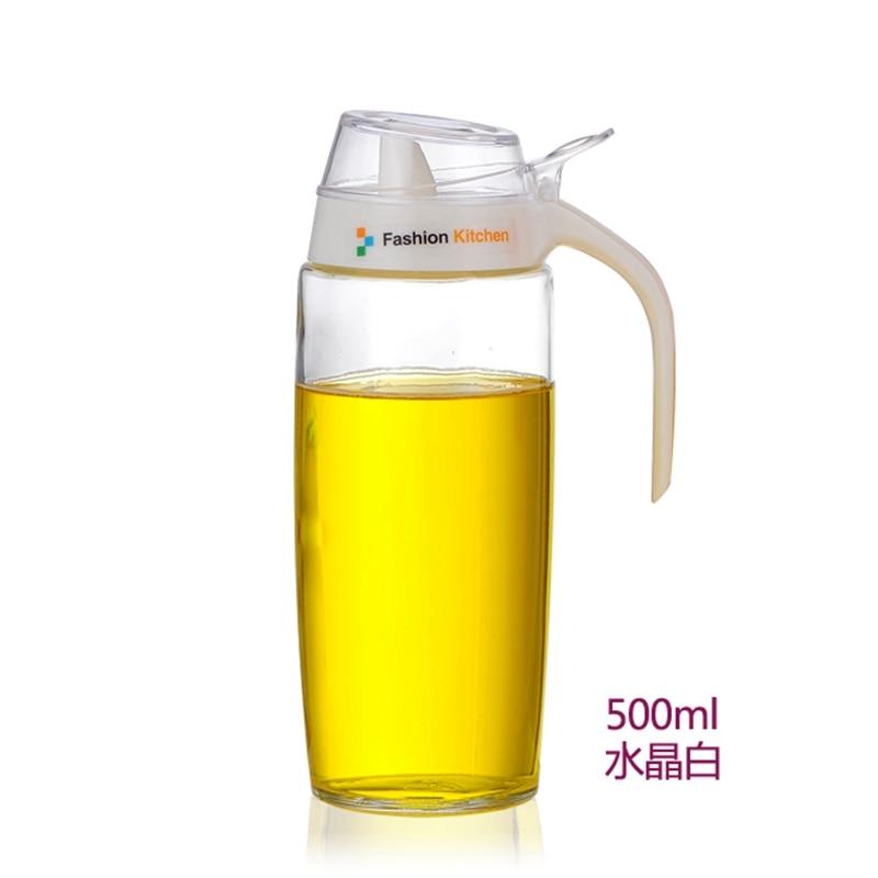 Large oil tank glass leak proof pots seasoning kitchen supplies soy sauce bottles vinegar 500ML