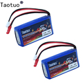 2PCS Taotuo Lipo Battery 7.4V 1500mAh 2S 20C For WLtoys Q212G V912 V262 A949V V913 L959 RC Helicopter HQ955 Replacement Part