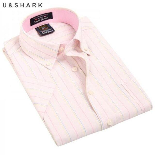 8b97d9aa244c Brand Mens shirt 2017 summer cotton new Striped casual Slim male short- sleeved Business Dress Shirts Formal Work Shirts Men