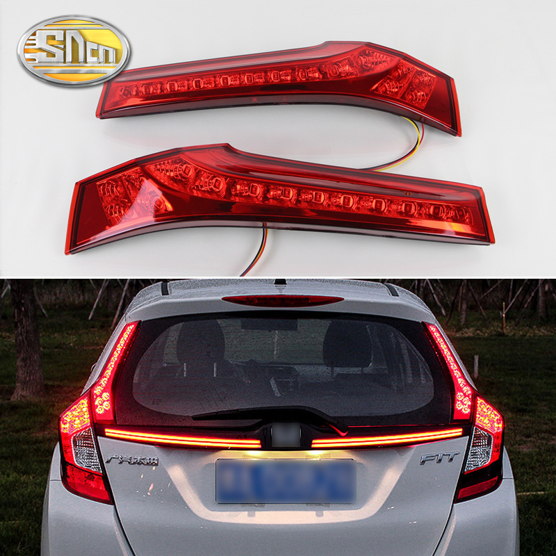 цена на 2PCS For Honda Jazz Fit 2014 2015 2016 2017 SNCN Car LED Tail Light Rear Bumper Light Brake Light Auto Bulb Decoration Lamp
