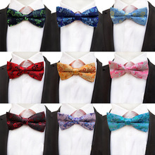 2019 New 18 Colors Mans Bowtie Fashion Korean Flower Floral Luxury Silk Men Accessories Wedding Party Bow Tie