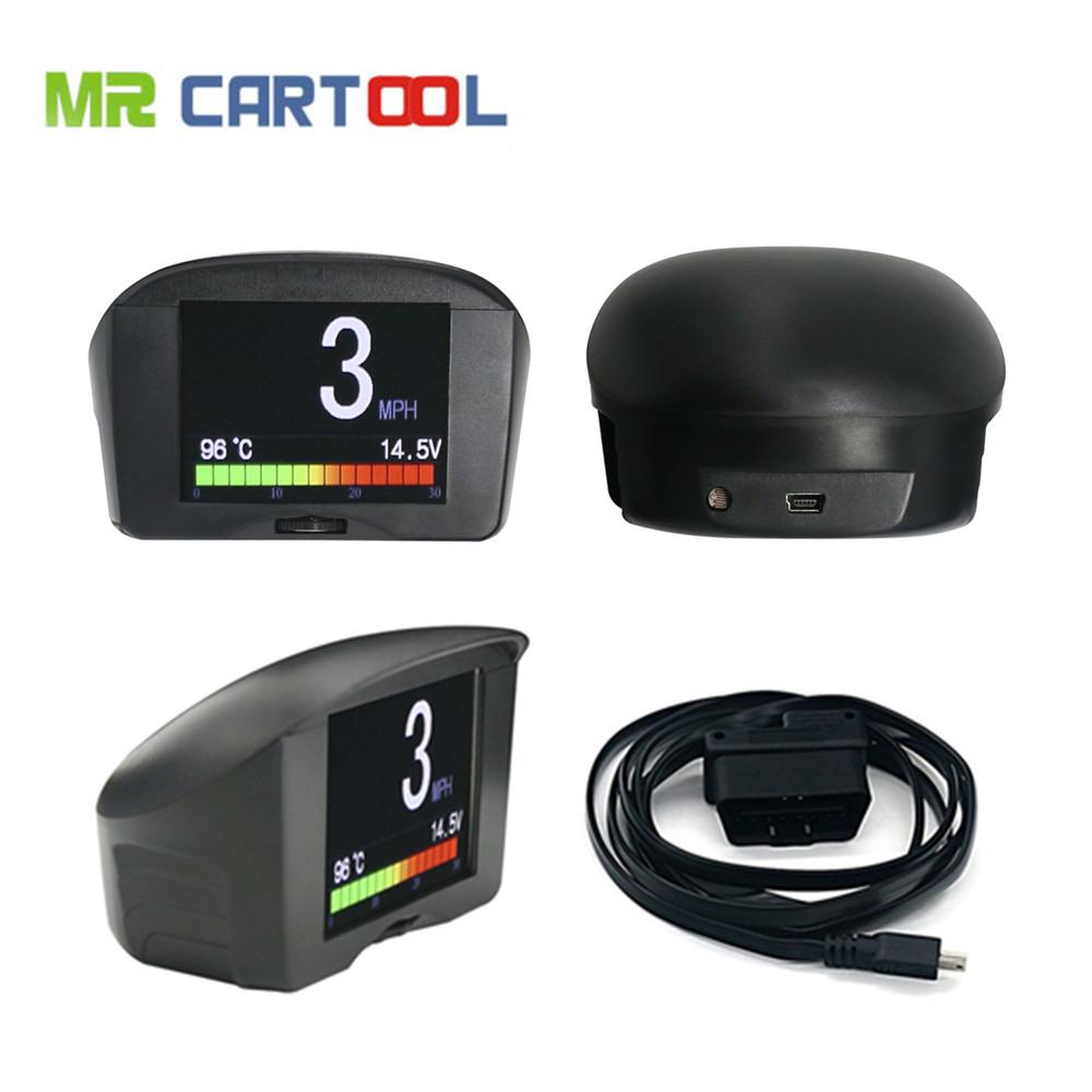 Prix pour AUTOOL Multi-Fonction De Voiture OBD Smart Compteur Numérique et D'alarme Faute Code température de L'eau jauge numérique tension compteur de vitesse affichage