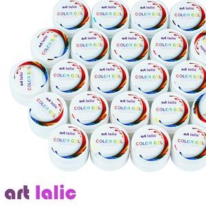 Image 2 - Artlalic 36 renkler UV jel seti saf kapak renkli dekor Nail Art İpuçları uzatma manikür DIY araçları