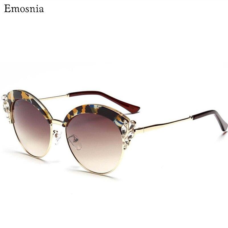 Luxury Vintage Sunglasses Diamond Women Brand Designer Retro Shades Sun Glasses For Women Men Ladies Female Sunglass Mirror 2017