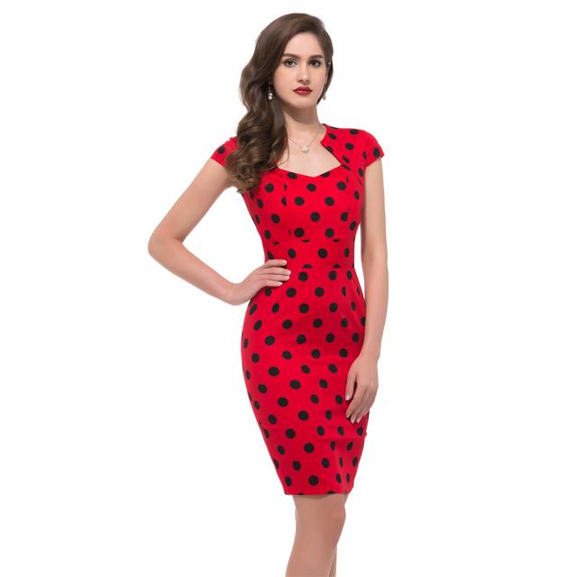 Summer Dress 2016 50s Vintage Womens Sexy Dresses Party Night Club Sheath plus size Vestidos floral bodycon Women Pencil Dress