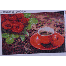2017 New 5D Diamond Embroidery Painting DIY Mosaic Coffee Rose Patterns Rhinestone Art Gifts Home Decor Wall Mural YZ418