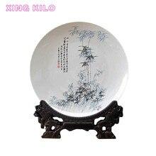XING KILO Jingdezhen ceramics flower plate modern furniture crafts ceramic hanging wine cabinet furnishings