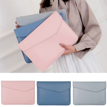 Pu Leather Thin Sleeve Case For Laptop 13 14 inch,Bag Cover For Dell Asus Lenovo Hp Ace Macbook Air Pro 13.3 Touch Bar pu leather case cover for lenovo ideapad 510s 14 inch laptop bag notebook protective sleeve pen as gift