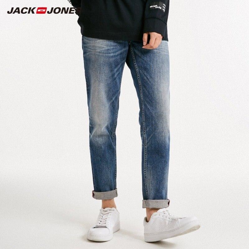 JackJones Men's Autumn Dark Color Slim Fit Tight-leg   Jeans   Men's Denim Pants 218332611