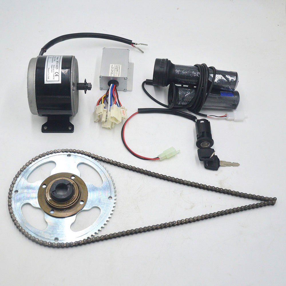 24V 250W Brushed DC Motor For Electric Bicycle Kit DIY E-Scooter Mini Emoto High-speed Brush Gear Decelerating Motor Conversion