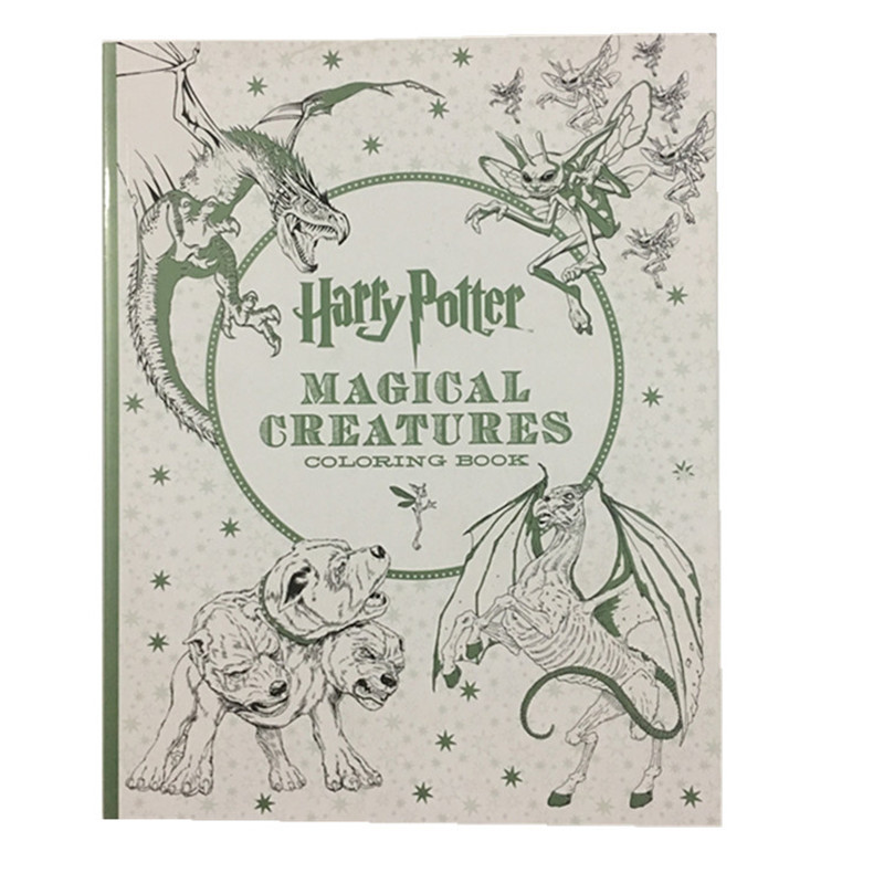 96 Pages Thick paper Harry Potter Coloring Book For Adults Children ...