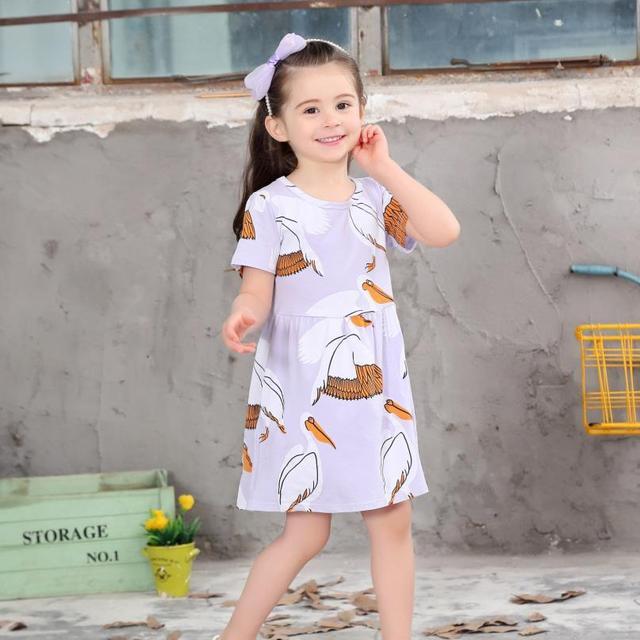 f67535d0d716 weiqiniya Girls Dress Summer Kids Beach Dresses For Girls Casual ...
