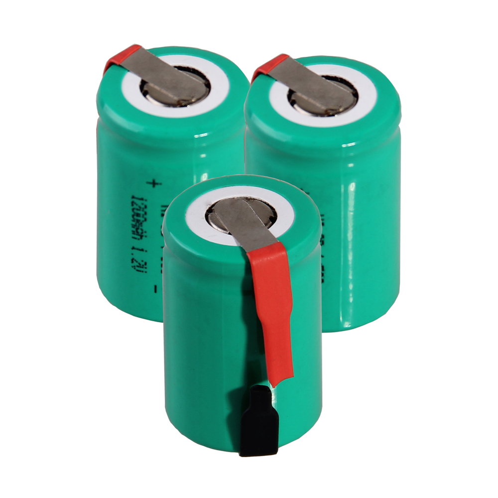 Real capacity 3 pcs 4/5SC 1200mah 1.2v battery NICD rechargeable batteries for emergency light for makita bosch B&D