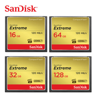Sandisk Extreme Compact Flash Camera digital Memory Card 32 GB 64 GB 128 GB Up to 120 MB Read Speed for 4 K and Full HD Video