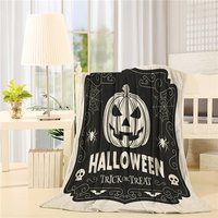 Modern Home Vintage Halloween Pumpkin Spider Web Art Prints Fleece Blanket Sheet Throw Bedding Blanket