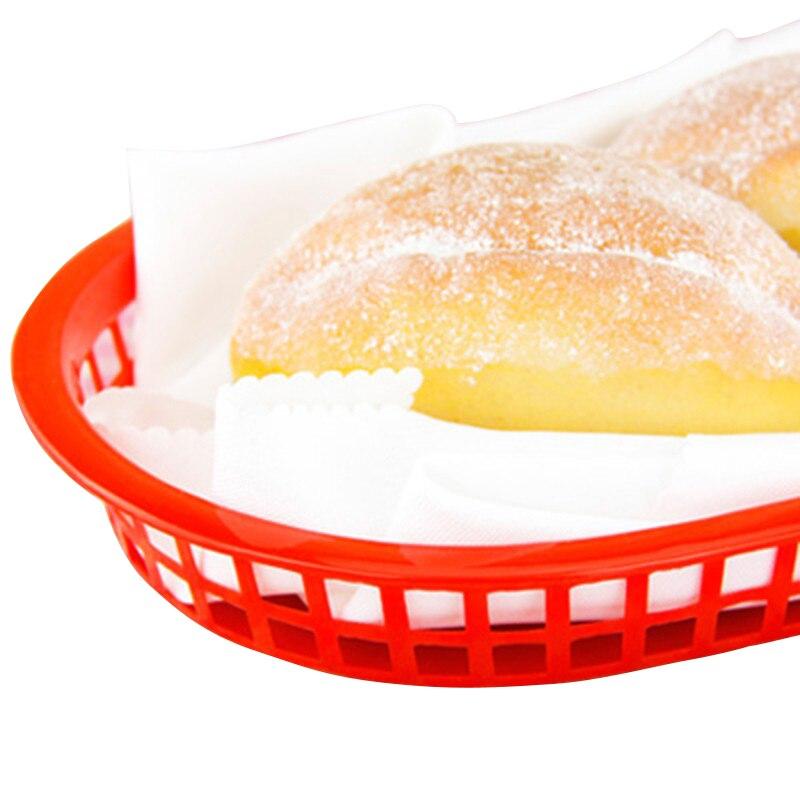 12pcs 10 5 large fast food platter basket red plastic dinner