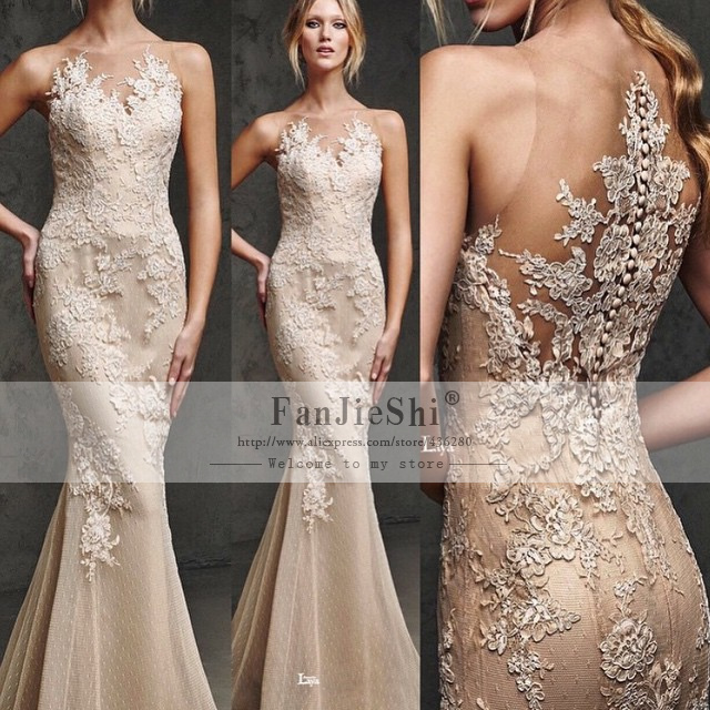 444f73028a28 2016 Vestido De Noche Mermaid Long Evening Dress Venice Lace Elegant Prom  Dresses Plus Size
