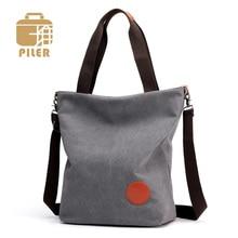 Famous Brand Canvas Messenger Bag Women Handbags Casual Tote Large Simple Shoulder Bag Canvas Crossbody Bags for Women Handbag
