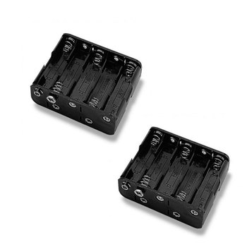 100pcs Portable 15V Battery Holder For 10x AA Batteries Container Storage 2A Wire Leads Plastic Free Shipping