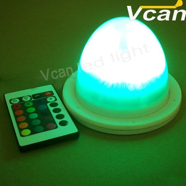 5PCS FAST Free Shipping Battery Operated Remote Multi-Colors RGB Waterproof led Mini Light Base source