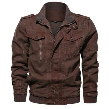Men Jackets Vintage Denim Jeans Jacket Plus Size M-6XL Spring and Autumn New 2019 Casual Military Army Cargo Clothing