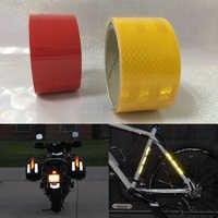 50mm X 3 m Reflektierende Fahrrad Aufkleber Klebeband Für Bike Sicherheit Weiß Rot Gelb Reflektierende Bike Aufkleber