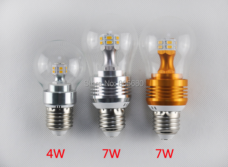 E27 E14 4W 7W LED Corn Bulb led bulb lamp Light 360 degree chandelier 220V or 110V