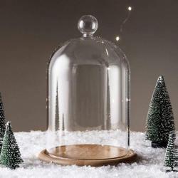 Instrukcja DIY kwiat w wazonie szklana pokrywa drewniana podstawa świeca aromaterapeutyczna osłona przeciwpyłowa doniczka dekoracja domowa przedstawiająca krajobraz Ornament|Wazony|Dom i ogród -