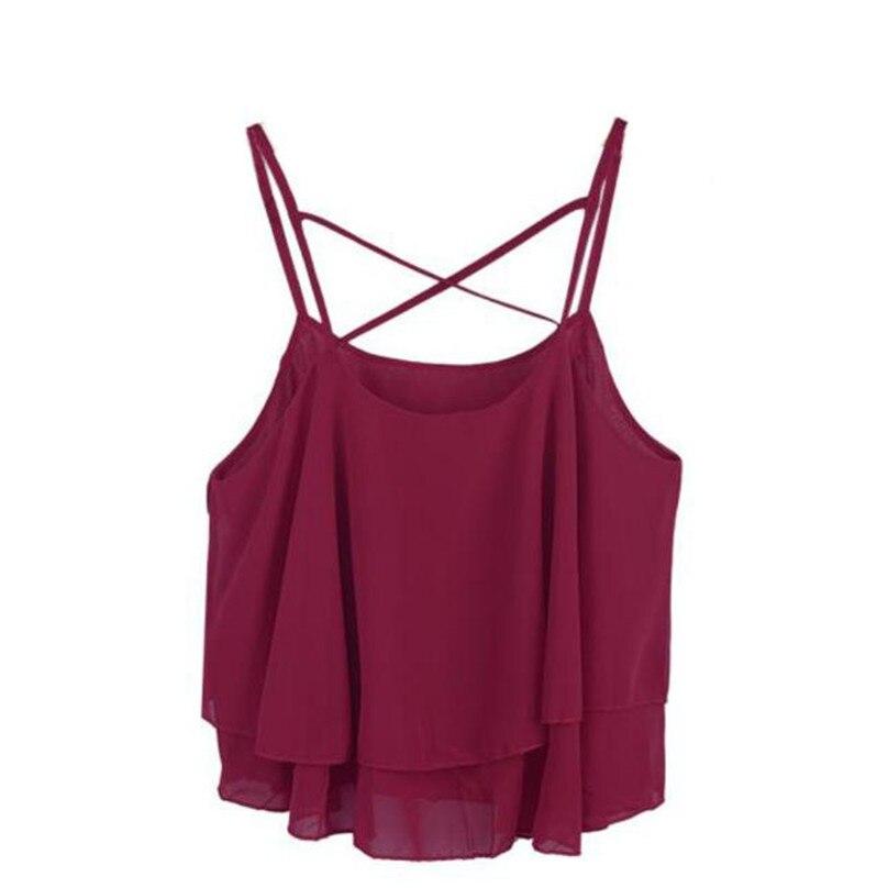 100% Nagelneu Und Hohe Qualität 2017 Sexy Mode Frauen Unregelmäßige Sommer Strap Blumendruck Chiffon Shirt Leibchen Weste # Kp5850