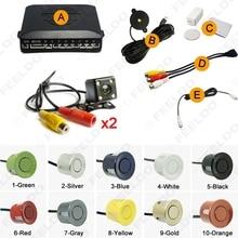 Car 8-Sensor Parking Sensor with 2pcs Night Vision LED Camera Dual Visual Rearview Video Parking Radar System #FD-938