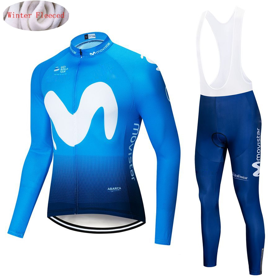 2019 Movistar Winter Thermal Fleece Long Sleeves Cycling Jersey Set Men Clothing Bike Clothes Wear Bicycle Maillot Ropa Ciclismo2019 Movistar Winter Thermal Fleece Long Sleeves Cycling Jersey Set Men Clothing Bike Clothes Wear Bicycle Maillot Ropa Ciclismo