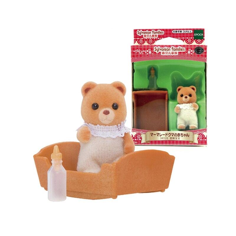 JAPAN EPOCH ANIMAL FIGURE SYLVANIAN FAMILIES 3412 MARMALADE BEAR BABY