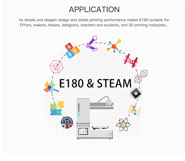 Geeetech E180 3D Printer With Full Colour Touch Screen And Wifi Connectivity 20