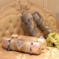 Gold Luxury Sofa Candy Cushion Decorative Throw Pillow Floral Embroideried Plush Long Big Decorative Cushions Wedding Home Decor