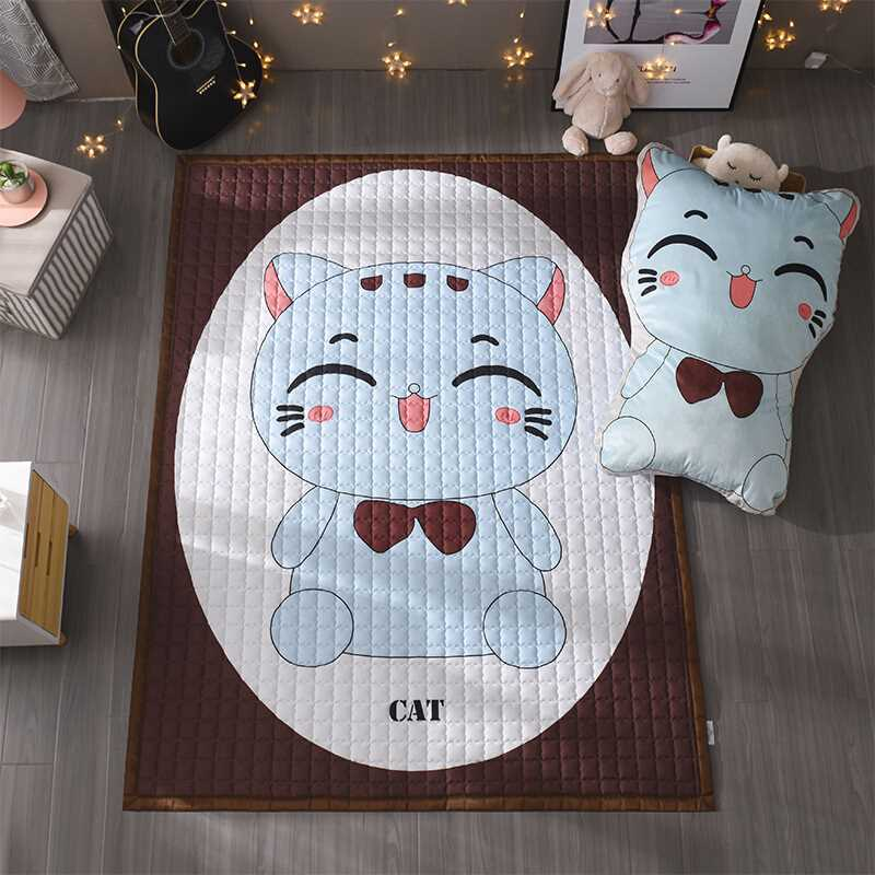 Infant Shining Cartoon Play Mat 145X195CM 1.5CM Thickness Baby Play Mat With 75X105CM Matching Pillow Carpet Water Washable