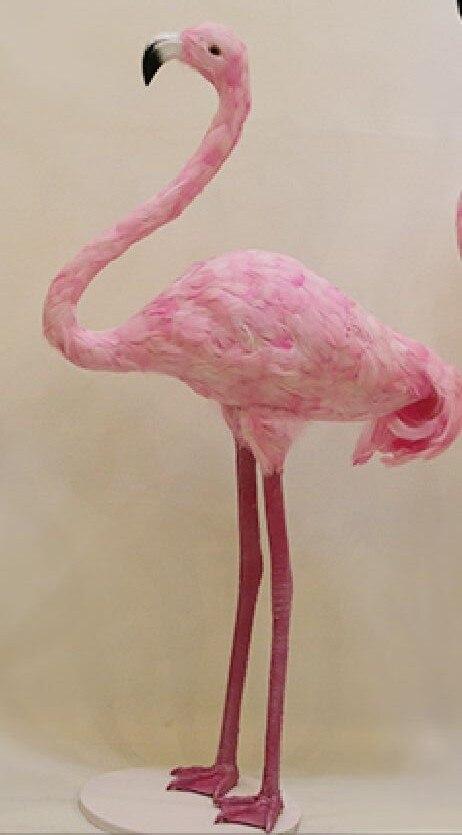 Grote 88 cm roze veren Flamingos vogel hard model podium prop handwerk thuis tuin decoratie gift s2249