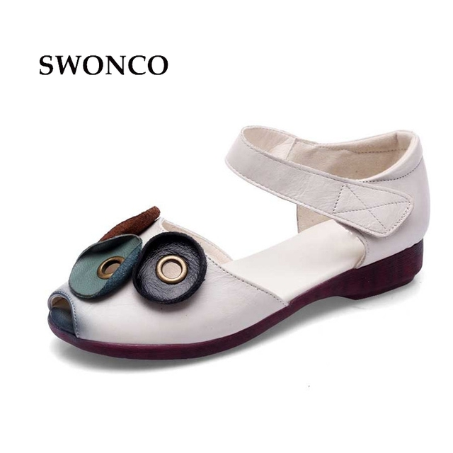 e5ac038b9294c7 SWONCO-Women-s-Sandals-2018-Summer-Genuine-Leather-Handmade-Ladies-Shoes -Women-Sandals-Flat-Casual-Shoes.jpg 640x640.jpg