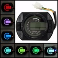 Motorcycle KMH LCD Digital Odometer Speedometer Tachometer With 7 Colors Background