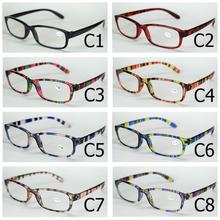 Alders Comfortable Cheap reading glasses Simple colorful plastic frame with Power Lens