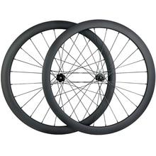 1400g 700c 42mm אסימטרית כביש דיסק פחמן גלגלים ללא פנימית TAPELESS מרכז גלגלי מנעול א. ד. 3K 12K אריג 12X100 15X100 12X142