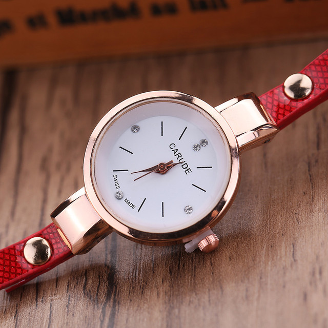 Women Watches Fashion Casual Bracelet Watch Women Relogio Leather Rhinestone Analog Quartz Watch Clock Female Montre Femme 4
