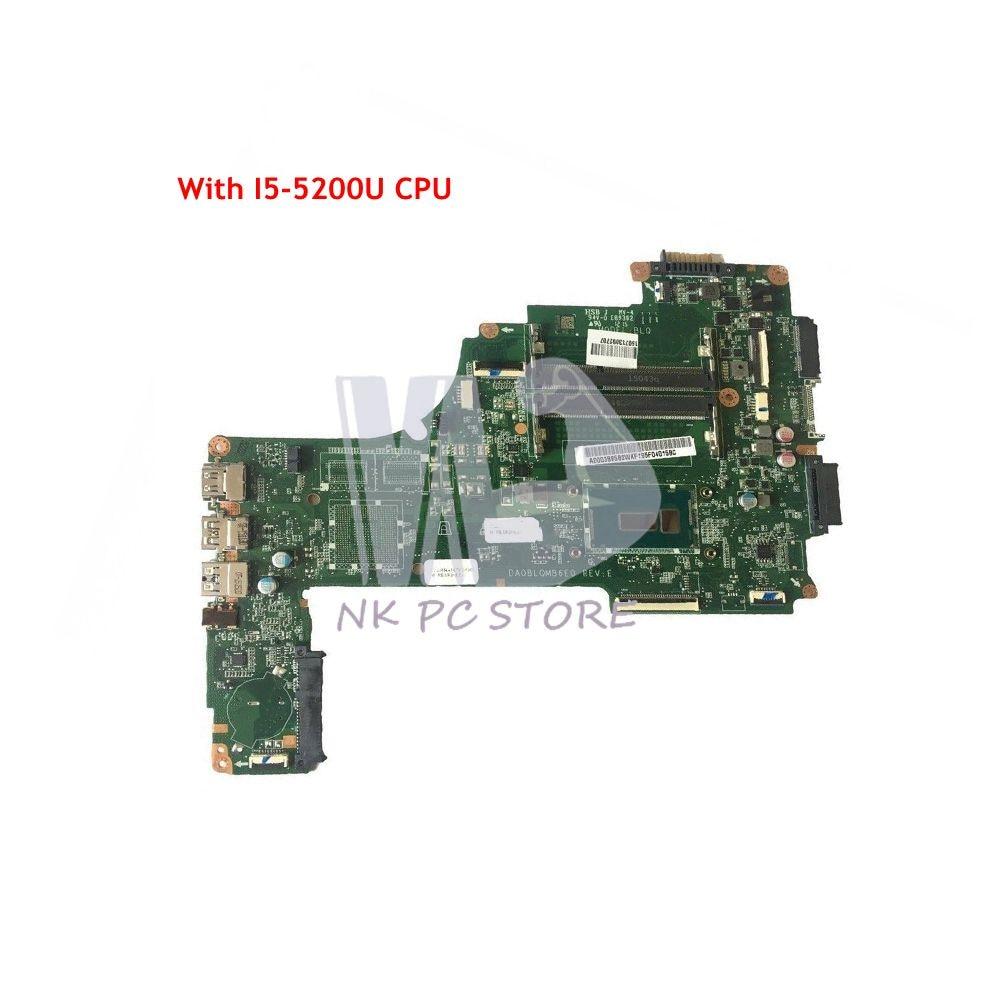 NOKOTION pour Toshiba Satellite C55 S55 C55-C carte mère d'ordinateur portable SR23Y I5-5200U CPU A000388580 DA0BLQMB6E0 carte principale
