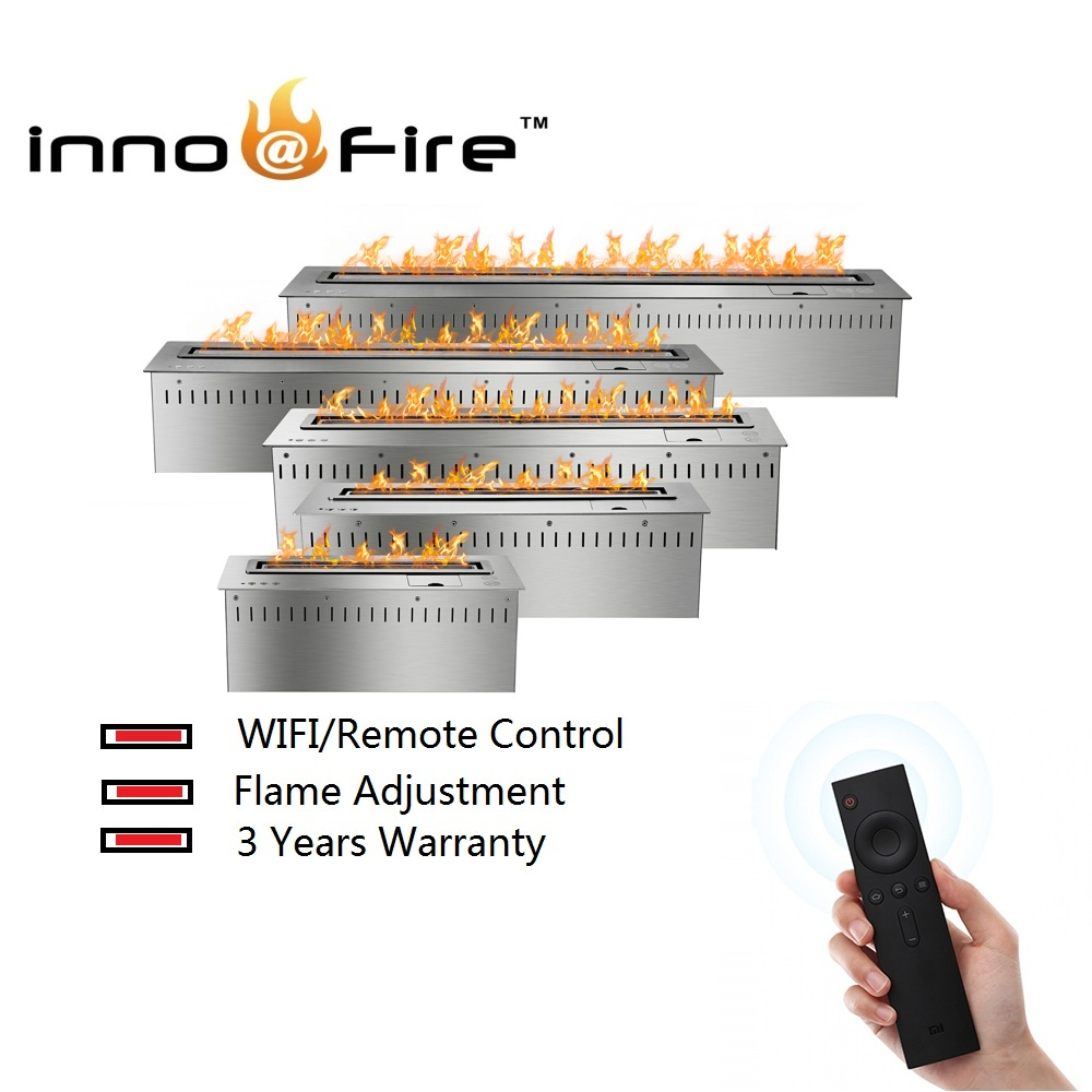 Inno-living 30 Inch House Fireplace  Intelligent Wifi Control Fire Place Bioethanol
