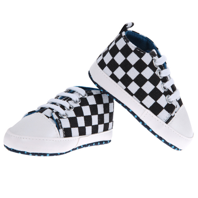 Baby Boys Shoes Kids Casual Black White Prewalker Anti-Slip Walkers Bowknots Shoes 0 to 18 Months Brand New 2017