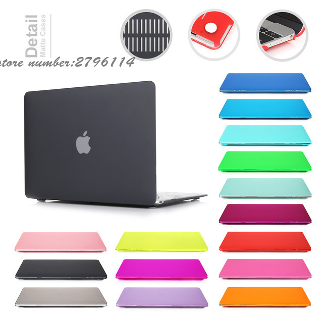 2016 New Color Matte Case For Apple Macbook Air Pro Retina 11 12 13 15 Laptop