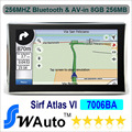 "Wholesale  Apical Atlas Sirf Vi 7"" Car GPS  Navigation Bluetooth+AV-IN High-speed Apical SiRF 800Mhz DDR 256M 8G Nandflash"