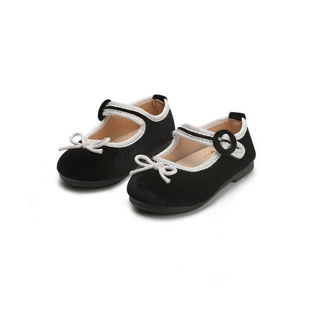 2018 New Baby girl shoes Velvet Dance Shoes Lazy Bow Girls Flats School  Shoes Soft Autumn Toddler Baby Shoes 4 years