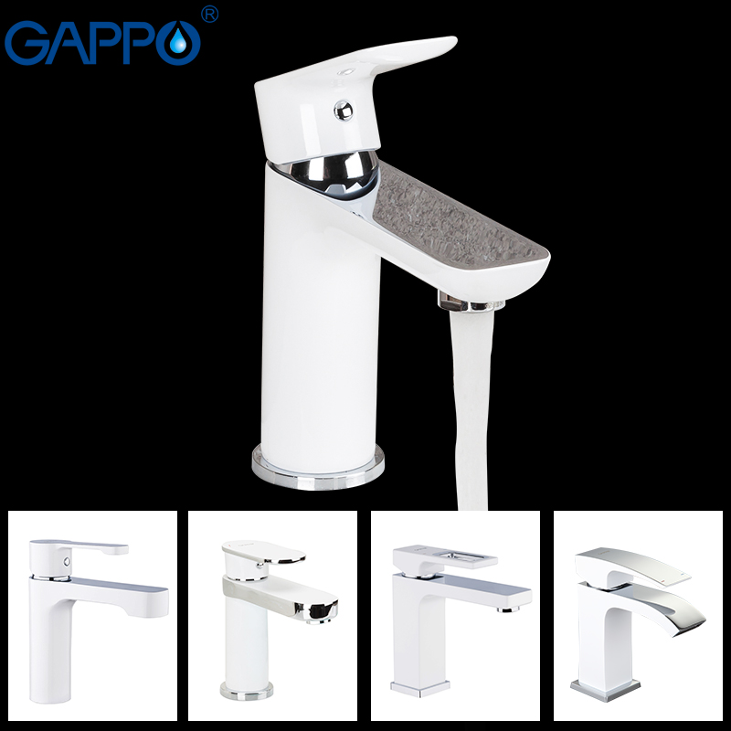 GAPPO Basin Faucet Brass Mixer Bathroom Sink Faucet Deck Mounted Bath Taps Faucet Water Sink Faucet Tap Torneira Do Anheiro